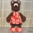 Knitted toy Bear Chocolate 03