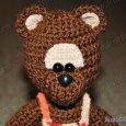 Knitted toy Bear Chocolate 04