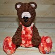 Knitted toy Bear Chocolate 05