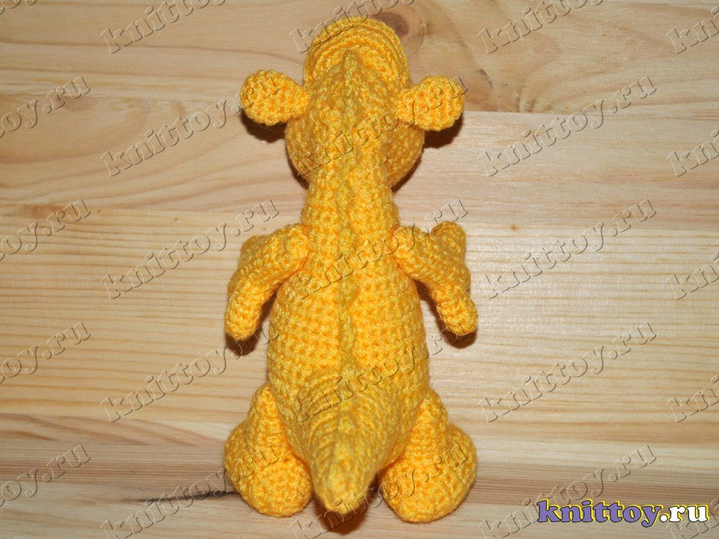 photo gallery of knitted Dragon Marusya, knitted toy Dragon, the New year 201...
