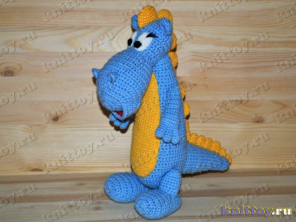 Вязание игрушки драконы