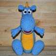 Knitted toy Dragon Stepa 09