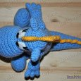 Knitted toy Dragon Stepa 10