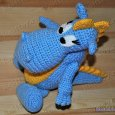 Knitted toy Dragon Stepa 11