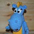 Knitted toy Dragon Stepa 12
