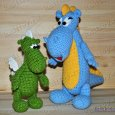 Knitted toy Dragon Stepa 15