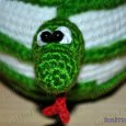 Knitted toy Apple Snake 02