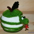 Knitted toy Apple Snake 03