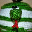 Knitted toy Apple Snake 04