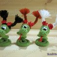 Knitted toy Snake Dasha 04