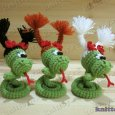 Knitted toy Snake Dasha 05