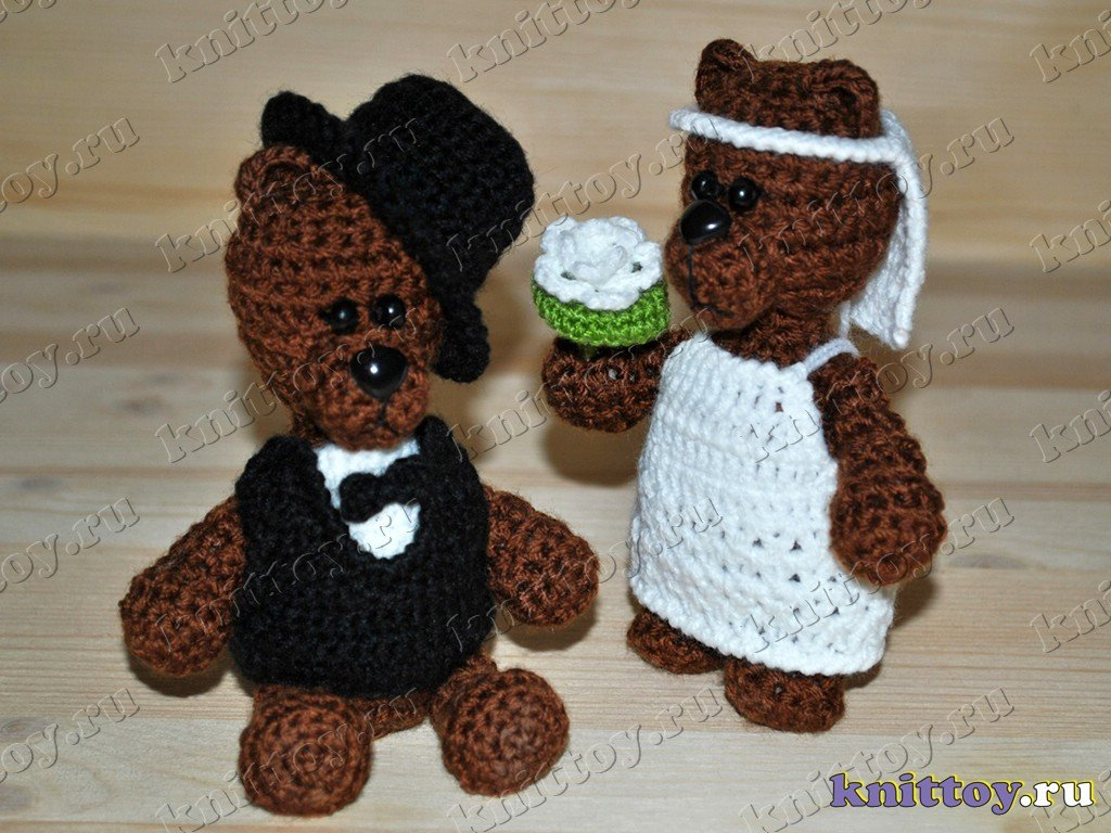 Knitted Wedding Gifts: Photo Gallery Of Knitted Toys Wedding Bears, Knit Wedding